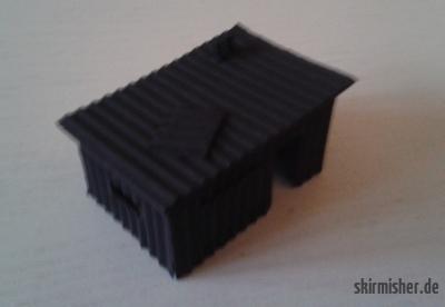 Grundierte Hütte