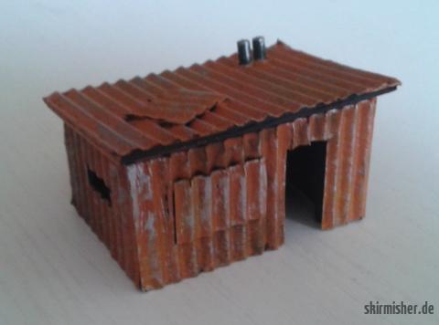 Rostige Wellblechhütte