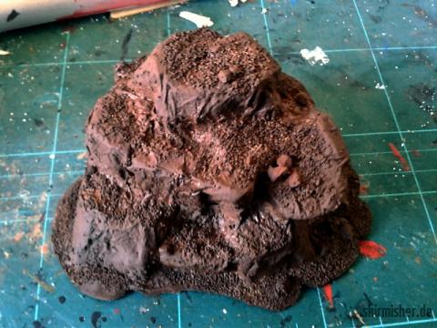 Grundierter Felsplateaurohling